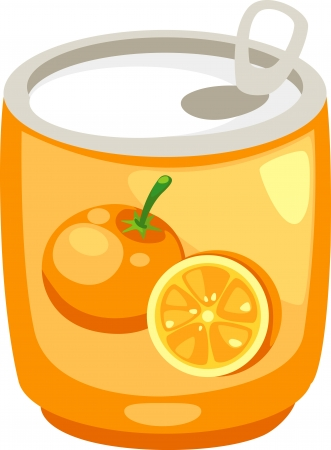 drink can: illustration isolated ALPHABET LETTER J-Juice vector Illustration