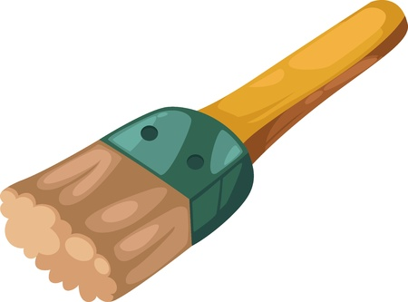 working on school project:  Stock Vector Illustration  illustration isolated ALPHABET LETTER P-Paintbrush vector