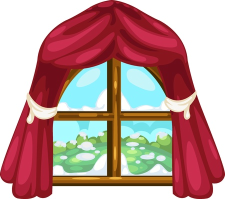 cartoon window: illustration isolated ALPHABET LETTER W-Window  vector