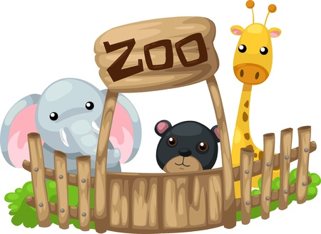 illustration isolated ALPHABET LETTER Z-Zoo  vector Illustration