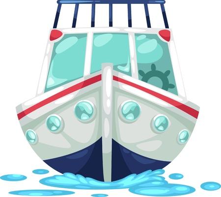 barco caricatura: ilustraci�n, letra, ALFABETO Y-Yacht vector