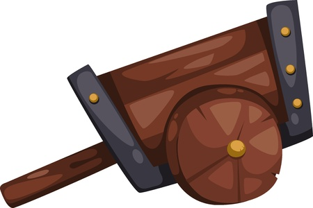 wagon wheel: cart illustration