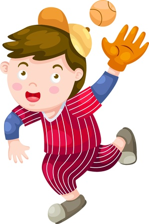 attitude boy: Baseball Player vector illustration on a white background