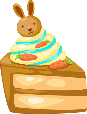 liquified: Sweet cake Vector illustration