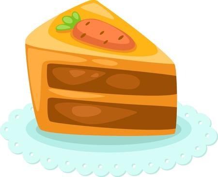 porcion de torta: pastel ilustraci�n vectorial Vectores