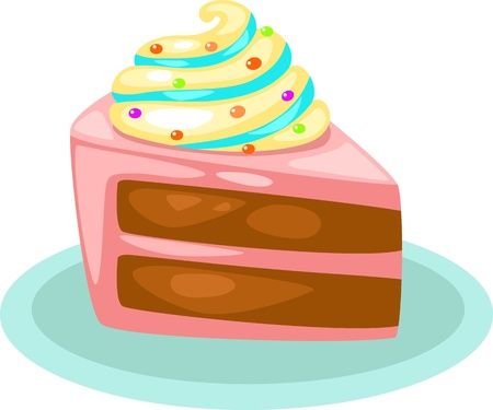 vanilla cake: cake vector illustration  Illustration