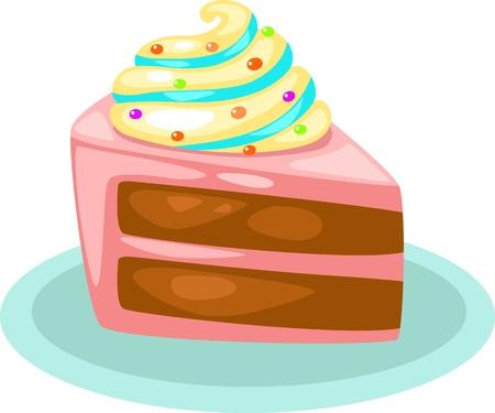 porcion de pastel: pastel ilustración vectorial Vectores