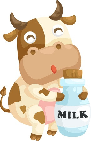 leche y derivados: vaca Ilustración vectorial