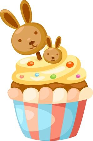 carrot cakes: cupcake vector illustration Illustration