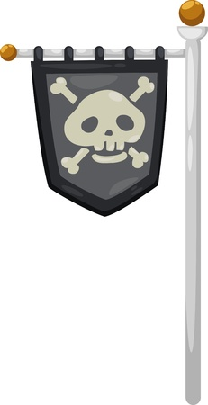 pirate flag vector illustration Stock Vector - 15454323