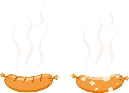 hotdog illustration vector