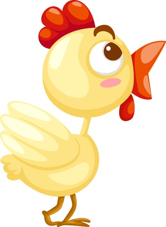 dubious: Cute chicken vector Illustration