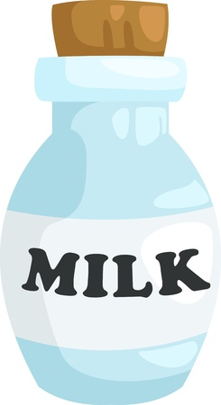 milkman: milk bottle vector Illustration