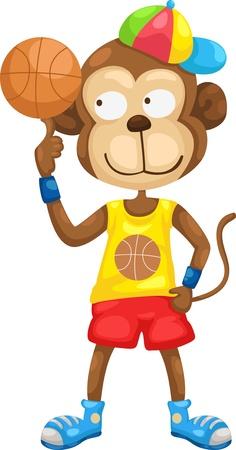 anger kid: monkey vector Illustraiton