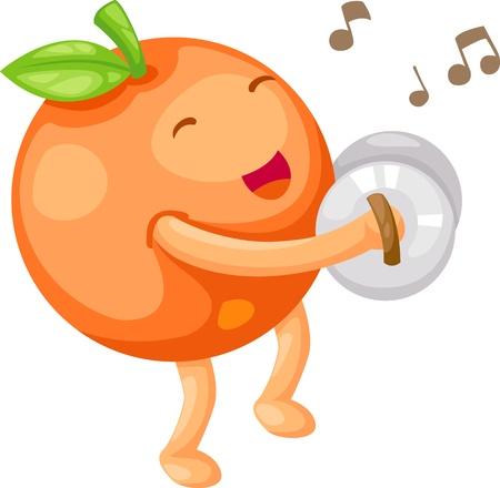 clave de fa: Orange ilustración vectorial Vectores