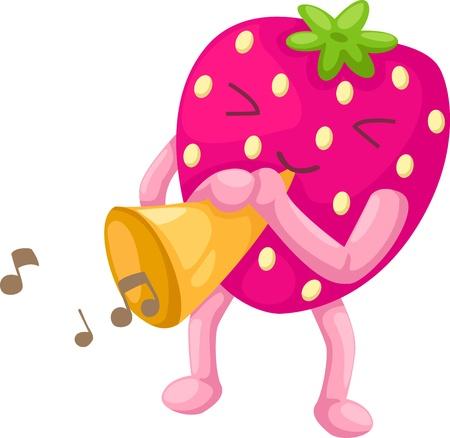 jams: strawberries vector illustration Illustration