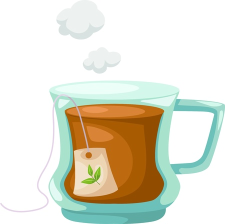 Cup of tea illustration vector Vector