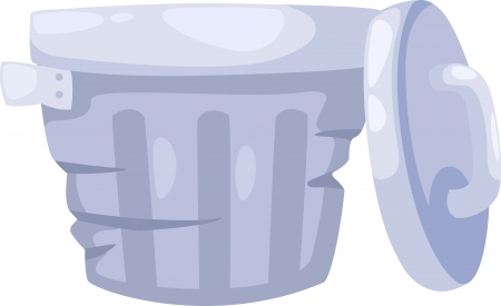 Trashcan Vector  Stock Vector - 15454340