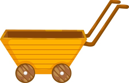 wagon wheel: cart vector illustration