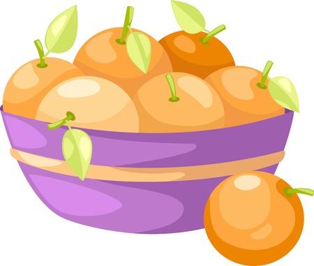 pomarańcze w koszyku ilustracji wektorowych