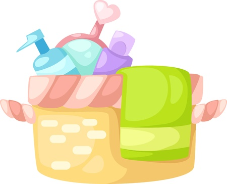 bath set vector illustration Vector