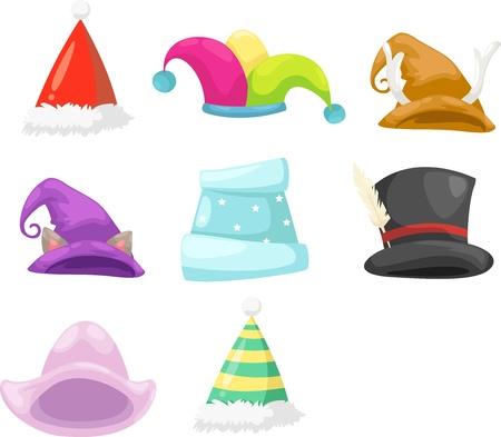 serpentinas: Colección sombrero Vectores