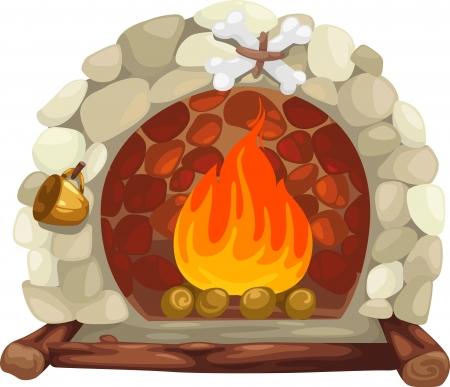 fireplace  Illustration Stock Vector - 15657176