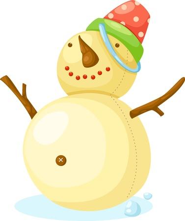 Snow Man  illustration Stock Vector - 15657172