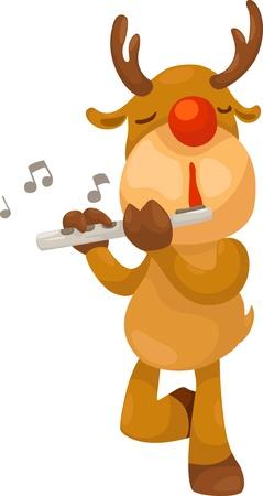 bocinas: Reindeer ilustraci�n vectorial