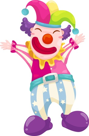 visage peint: illustration vectorielle clown sur un fond blanc Illustration