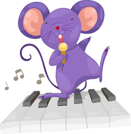 white cheese: rat sing vector Illustration on a white background  Illustration