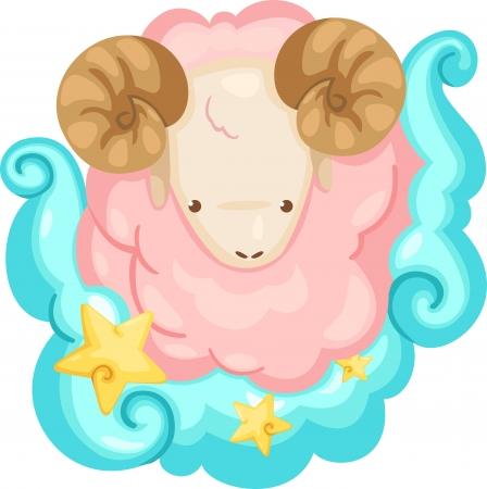 aries: Los signos del zodíaco Aries - Ilustración