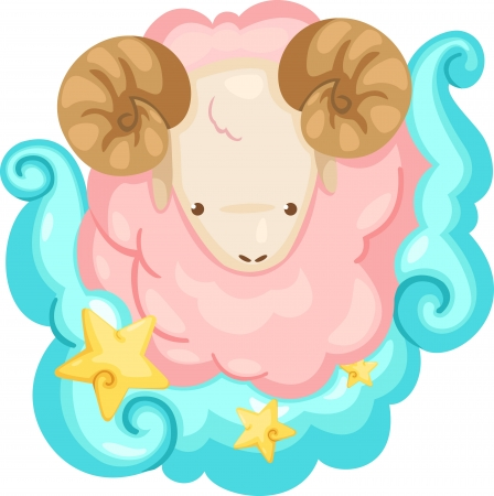 Zodiac signs - Aries Illustration Vector