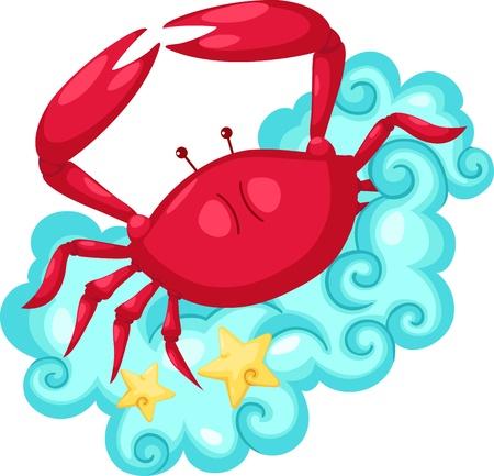 månader: Zodiac undertecknar -Cancer Illustration Illustration