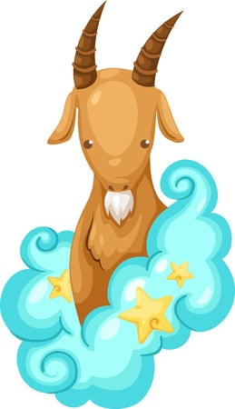 Zodiac signs -Capricorn Illustration  Vector