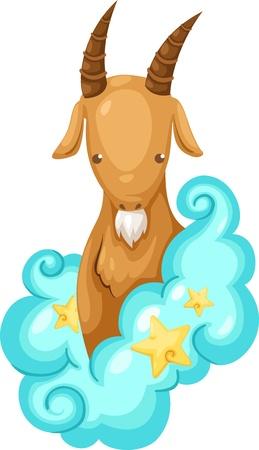 fortune telling: Zodiac signs -Capricorn Illustration  Illustration
