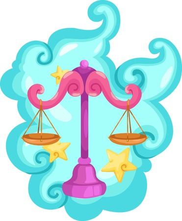 Zodiac signs - Libra Illustration  Illustration