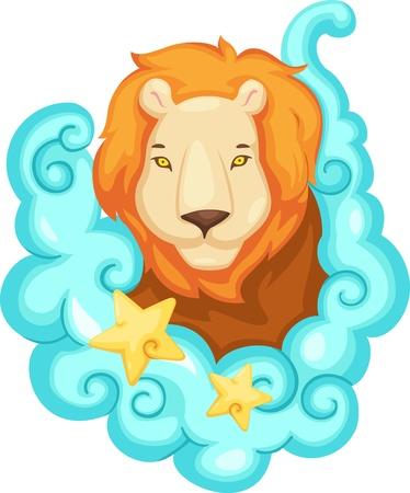 Zodiac signs - Lion Illustration  Vector