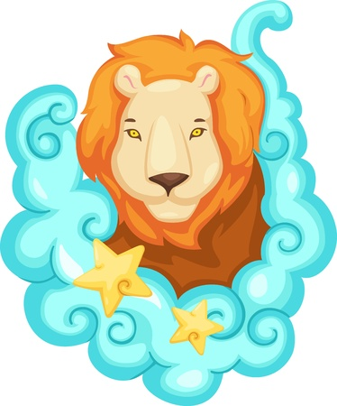 leo: Zodiac signs - Lion Illustration