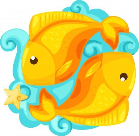Zodiac signs - Pisces  Illustration