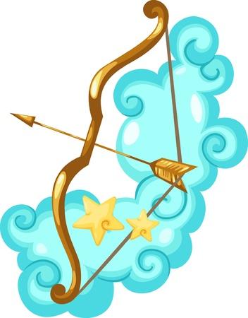 sagitario: Signos del zodiaco Sagitario-Illustration Vectores