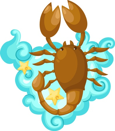 cartoon scorpion: Zodiac signs - scorpio Illustration