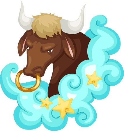 taurus: Zodiac signs - Taurus Illustration