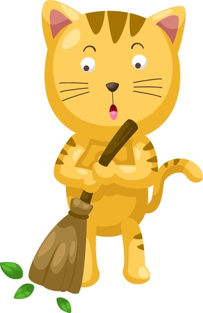 cartoon cat illustration Vector