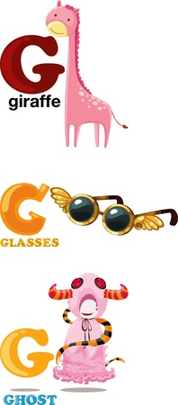 yong: Animal alphabet letter - G