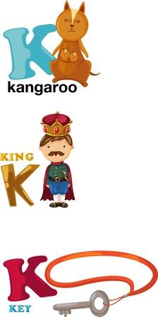 buchstabe k: Tier Alphabet Buchstaben - K Illustration