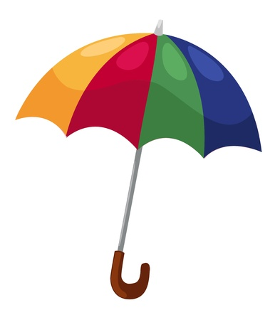 raining background: vector umbrella isolated on white background vector