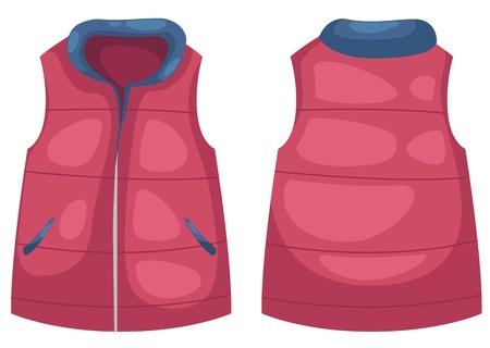 chaqueta: ilustración vectorial chaleco aislado en vector