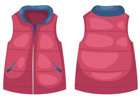 vest in isolated: vest vector illustration isolated on white vector Illustration