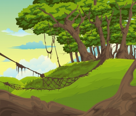 Beautiful Landscape Background vector Illustration